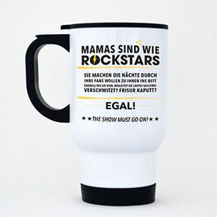 Thermobecher aus Edelstahl Mamas sind wie Rockstars