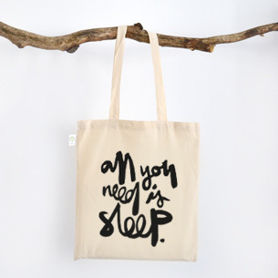 "Stofftasche ""all you need is sleep"" kaufen"