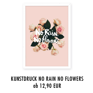 "HandyhülleKunstdruck ""no rain no flowers"" ""love"""