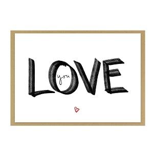 """Grußkarte """"love you"""" kaufen"""