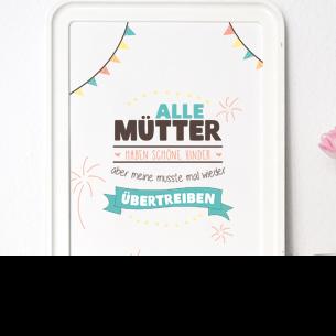 """Kunstdruck """"Alle Mütter haben schöne Kinder"""""""