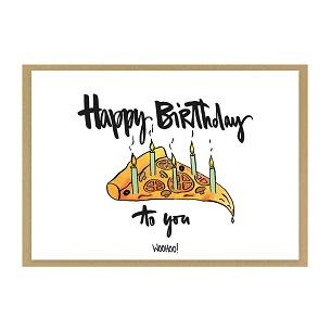 """Grußkarte """"Happy Birthday Pizza"""" - Geburtstagskarte kaufen"""