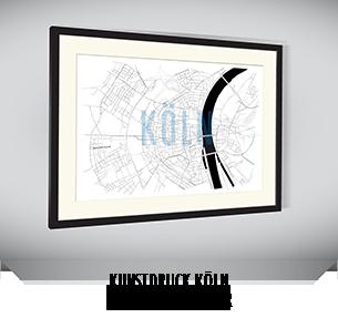 Stadtkarten-Poster Köln