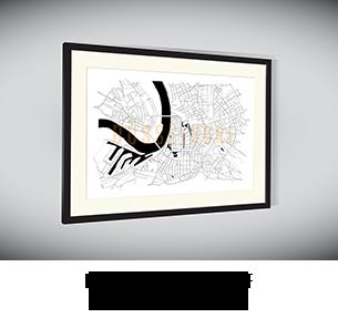 Stadtkarten-Poster Düsseldorf kaufen