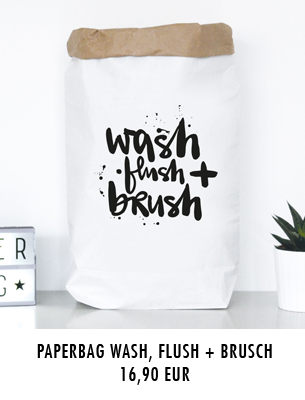 "Paperbag ""wash, flush + brush"" kaufen"