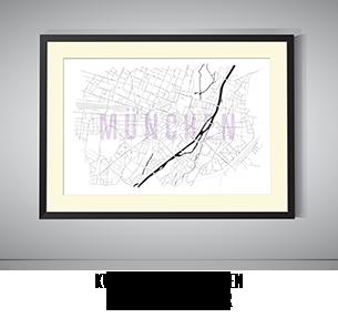 Stadtkarten-Poster München kaufen
