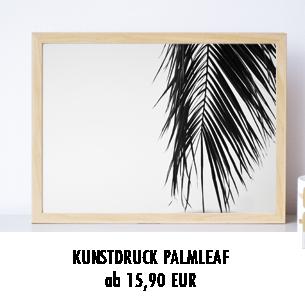 Wandbild Palmenblatt