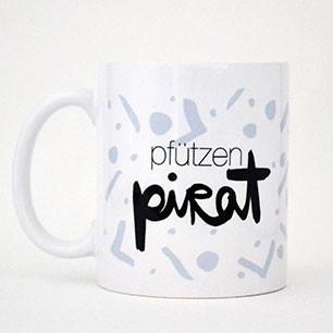 Kaffeetasse Pfützenpirat