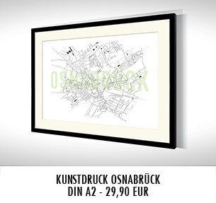 Stadtkarten-Poster Osnabrück kaufen