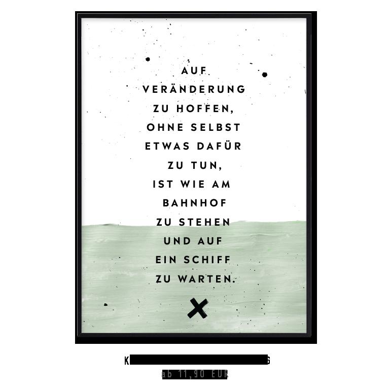 """Kunstdruck """"Auf Veränderungen hoffen..."""" kaufen"""