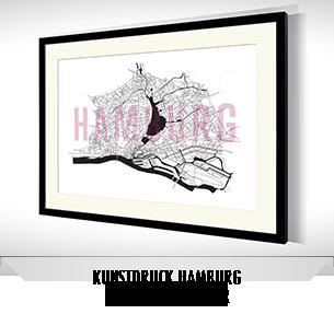 Stadtkarten-Poster Hamburg kaufen