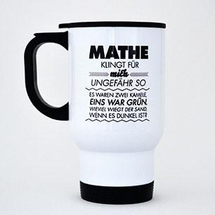 Thermobecher aus Edelstahl Mathe klingt für mich ungefähr so