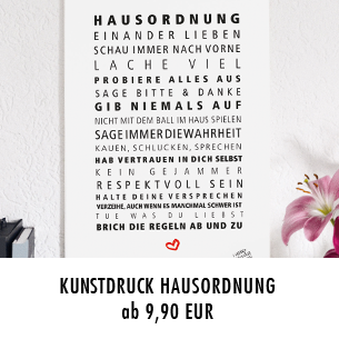 """Kunstdruck """"Hausordnung"""""""
