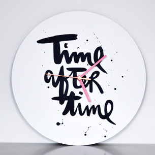 "handlettering Wanduhr ""time after time"" kaufen"