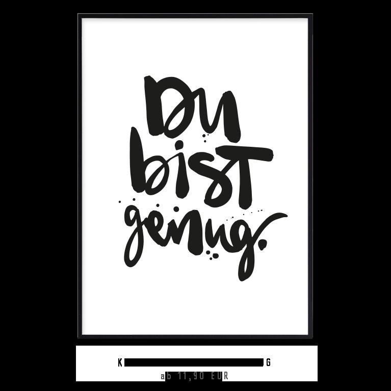 """Kunstdruck """"Du bist genug"""" kaufen"""