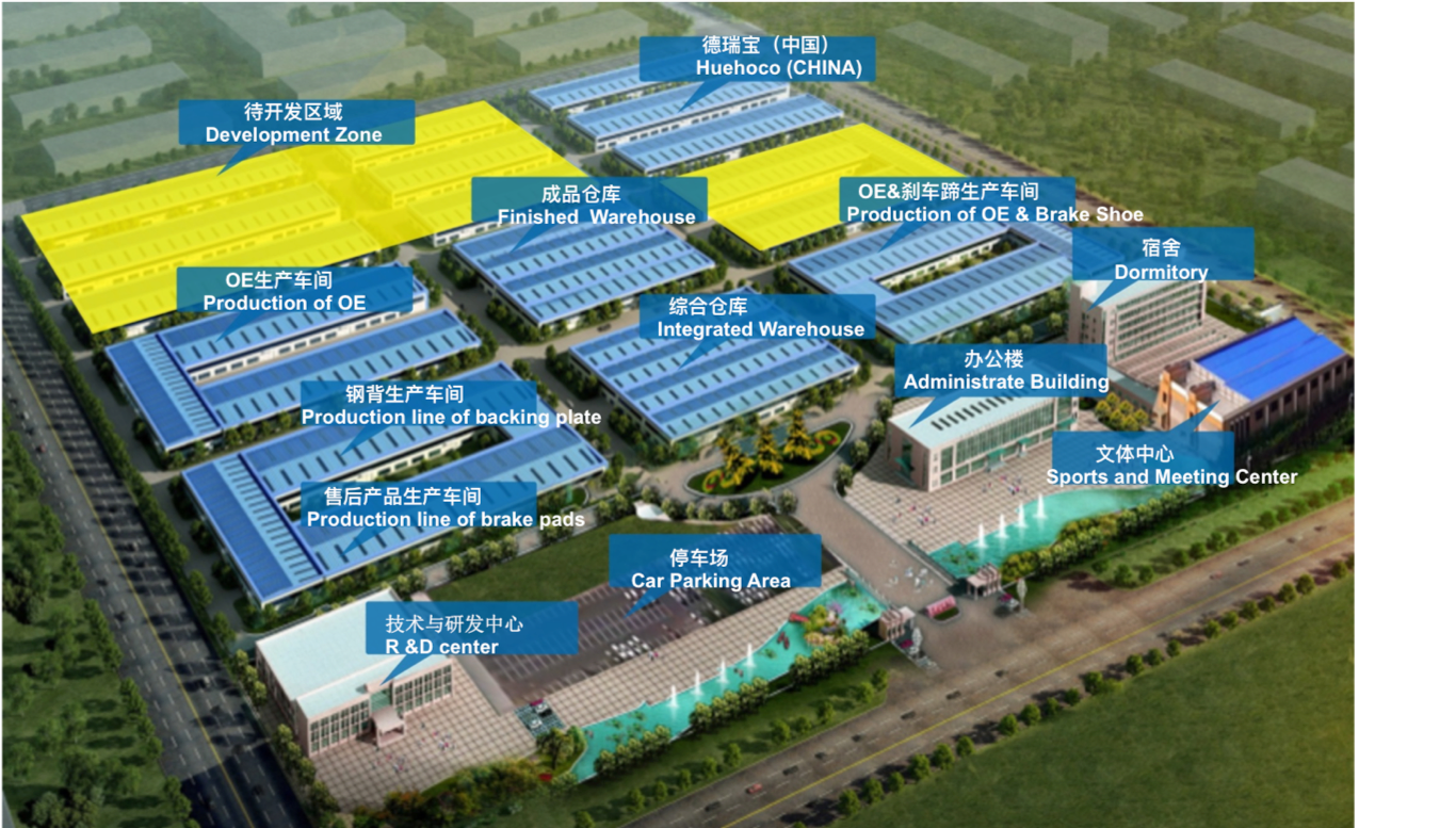 25.000 sqm Baofeng Brake Factory, Dongying, China