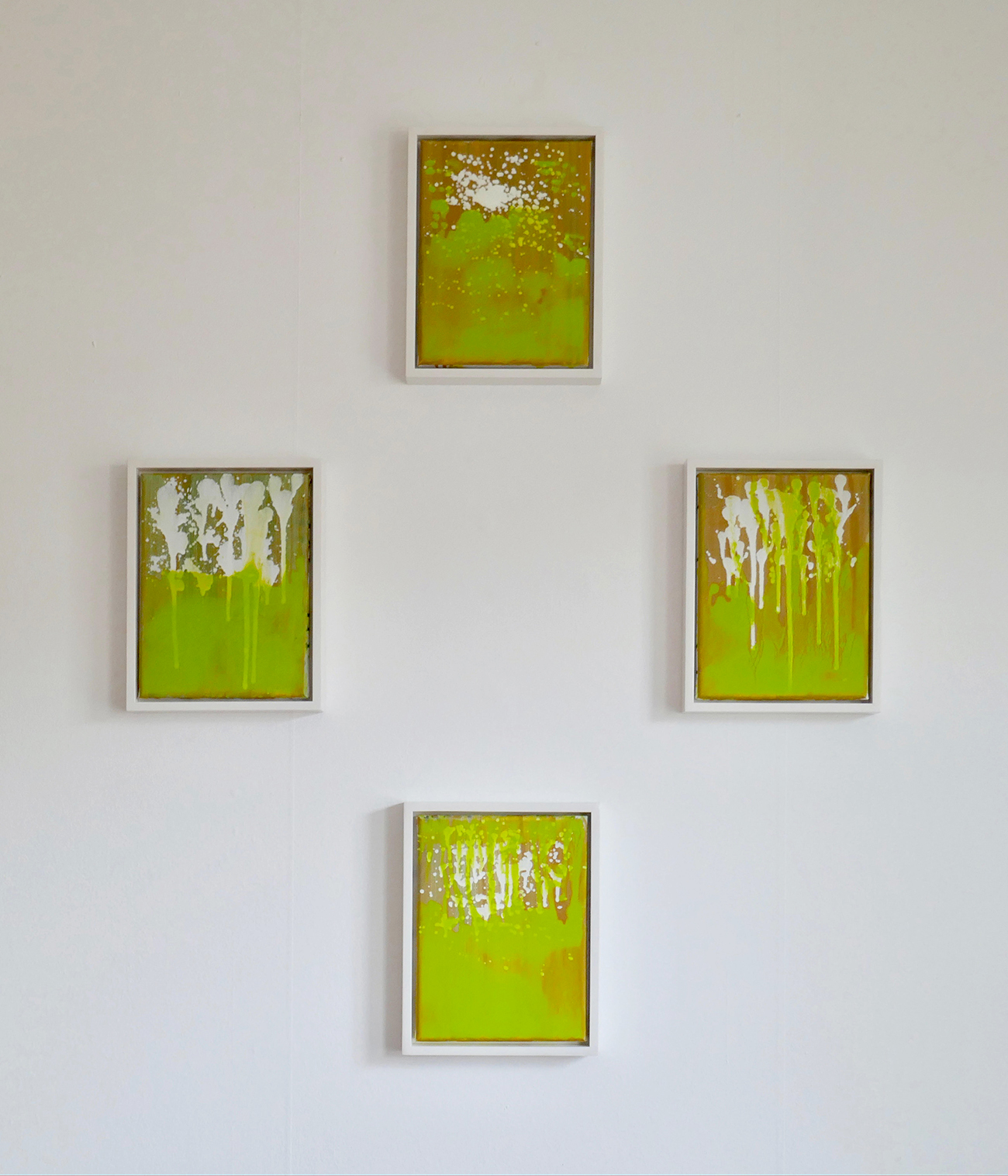 Rody Luton, Verdant 1-4, oil on canvas (approximately 96 x 78 cm ), 2018.