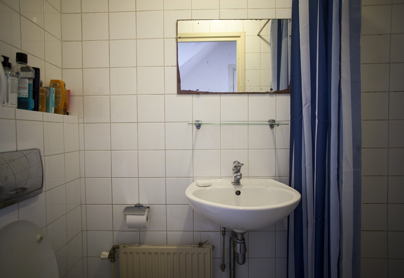 Bathroom, total view. Photo by Giovanni Giaretta.