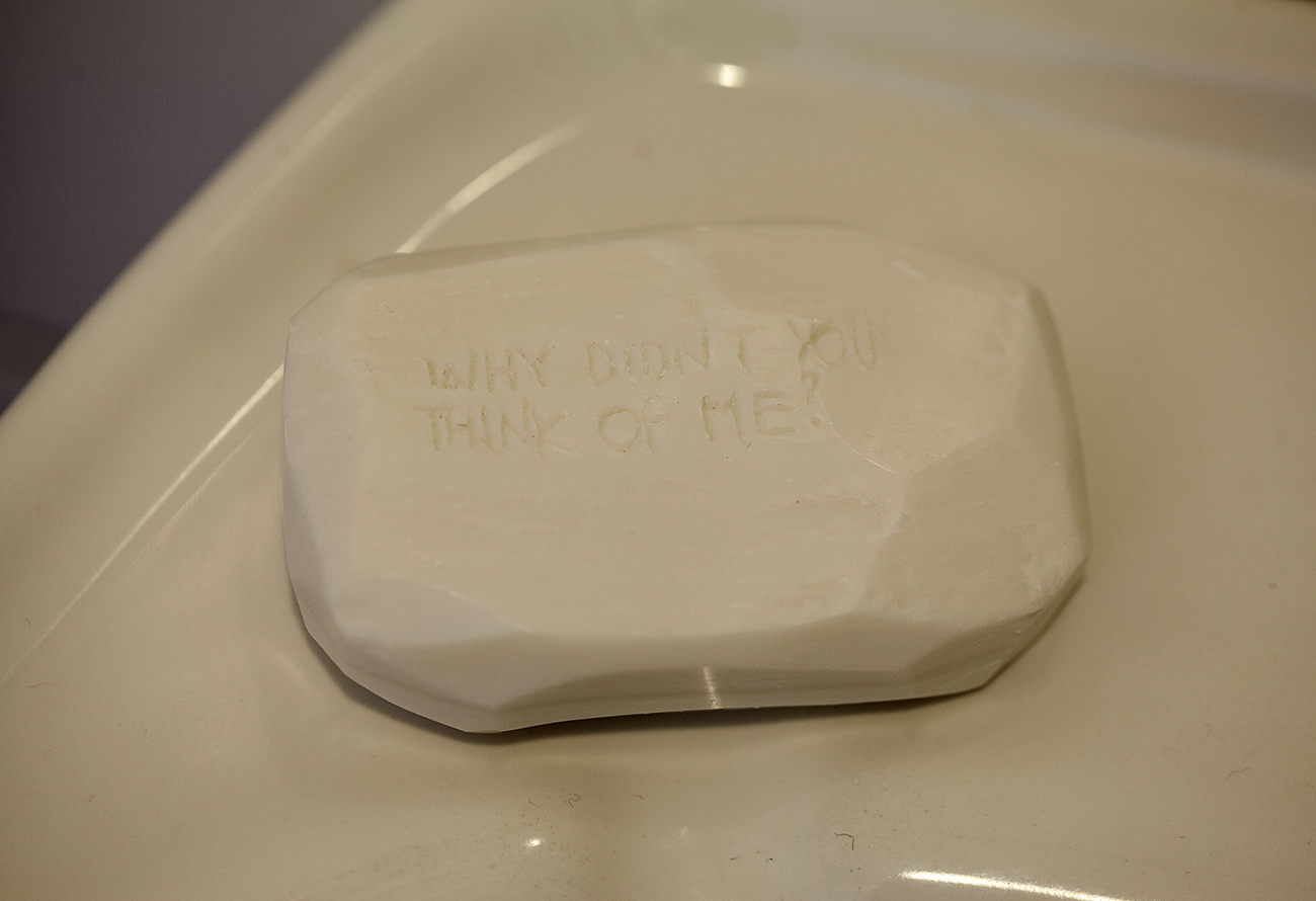 Silvia Mantellini Faieta, Why didn't you think of me (soap version), 2019. Photo by Giovanni Giaretta.