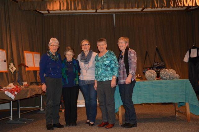 Präsidentinnen des LFV Bowil, v.l.n.r Marlies Wegmüller, Käthi Witschi, Barbara Schenk, Elisabeth Siegenthler, Kathrin Witschi