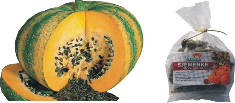 Sjemenke tikve golice