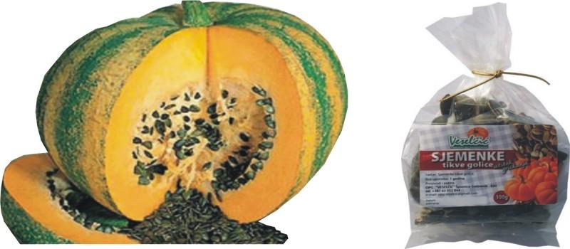 Karamelizirane sjemenke tikve golice
