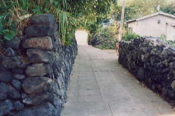 黒木の御所近辺の石積み
