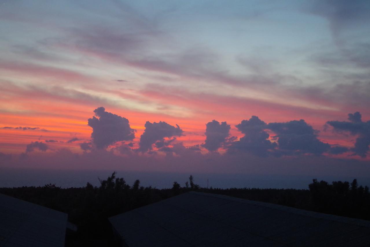 牧場からの夕陽