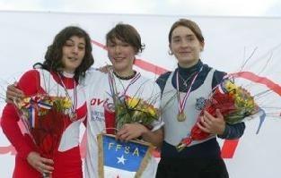 Justine LECOMTE, championne de France cadette en skiff (1x)