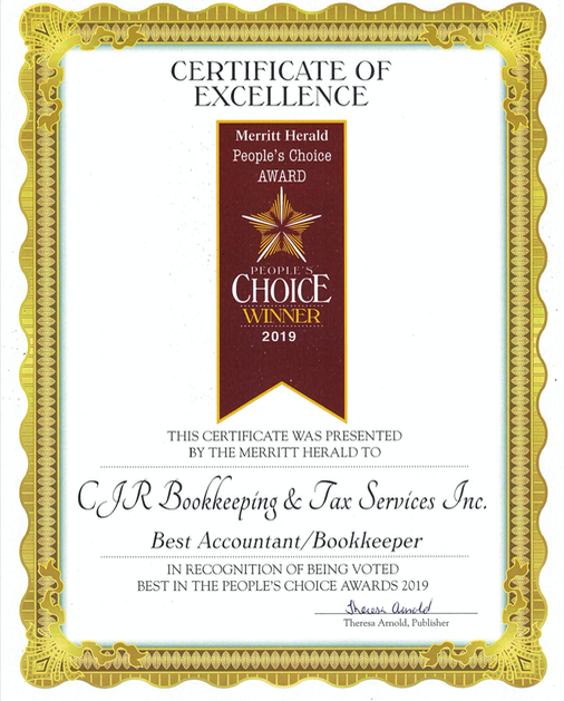 We're proud to be recognized as the Best Bookkeeper/Accountant in Merritt BC.
