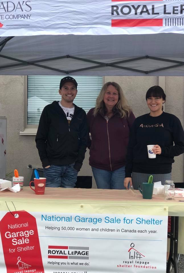 Royal LePage's Garage Sale Fundraiser - we sponsored ice cream for all attendees.