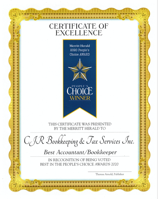 We're thrilled to me recognized as the Best Bookkeeper/Accountant the second year in a row!