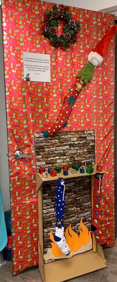 We all got into the Christmas Spirit and won the Ugly Door Contest at the Royal LePage Business Centre.