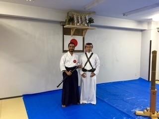 アラビックとアラブ衣装の友人