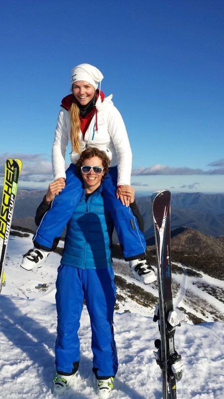 August 2014, Down Under. Vici skilehrert am Mount Buller!