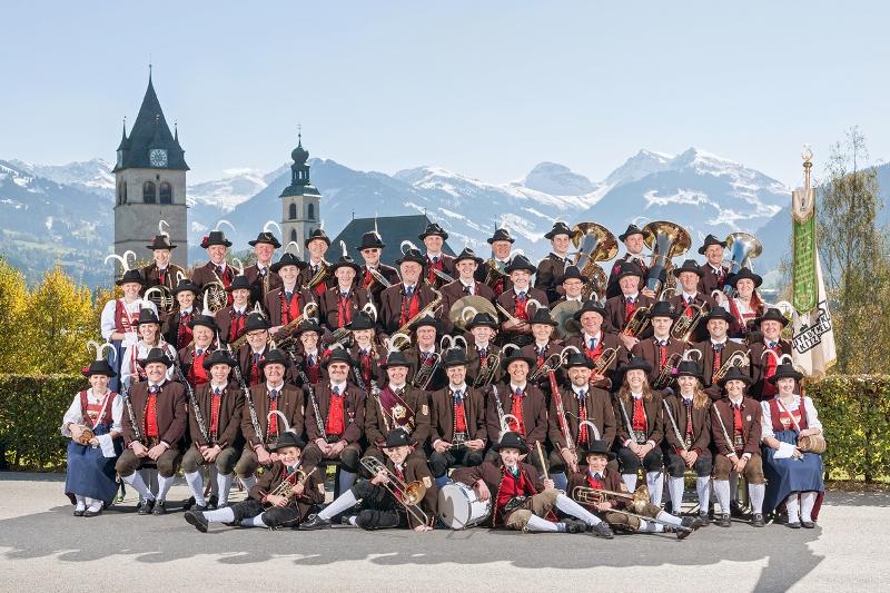 Stadtmusik Kitzbühel beim 67. Arlberger Musikfest von 14. bis 16. Juli 2017 in Lech am Arlberg
