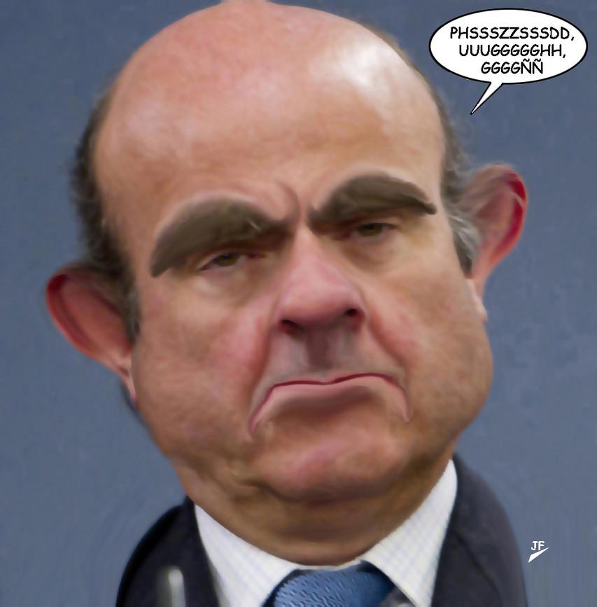 Luis de Guindos.-cartoonja.com FEDE JF