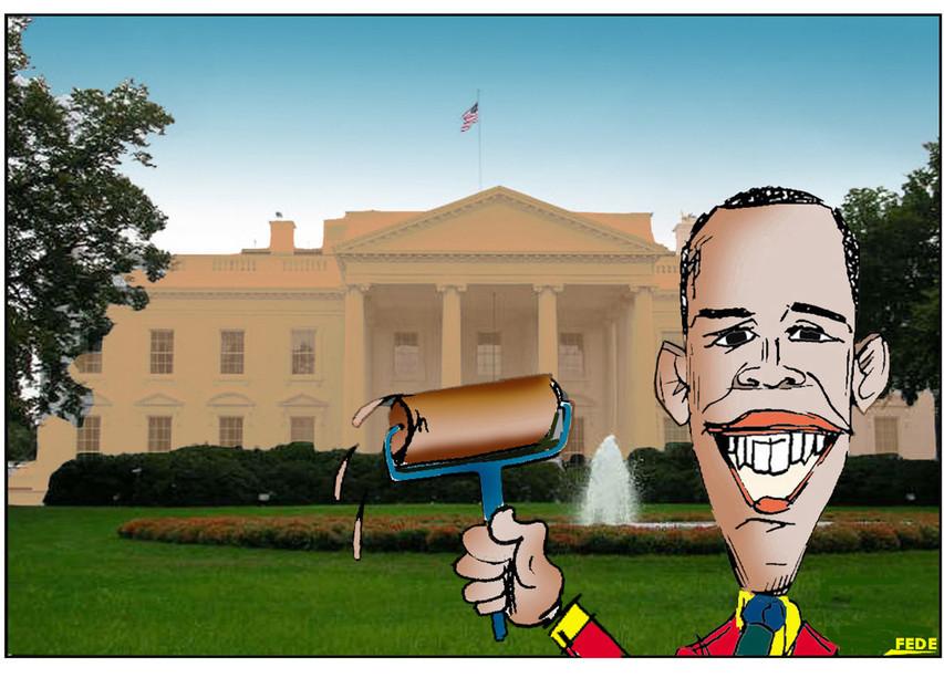 Obama.- cartooningja.jimdo FEDE JF