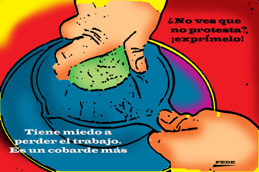 Manolito ya no da para más.- cartoonja.com