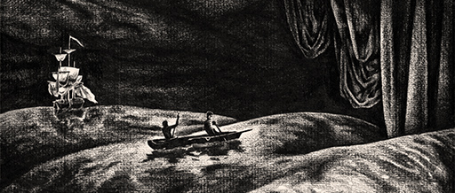 Pirate; Pirat; Pi; Nummer; Number; Chiffre; Zahl; Comic; Humour; Humor; Hook; Crochet; Capitaine; Jeu de mots; Fun; Witz; Zahl; Maths; Mathematik; Haken; Hand; Weiss auf Schwarz; Illustration; Tobias Willa; Basel