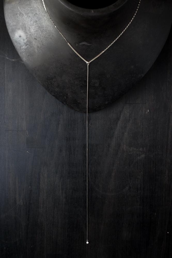 Y chain necklace - 素材 K18YG+K10YG x ダイヤモンド 0.1ct ¥101.300 (¥29.000 ネックレスのみ)