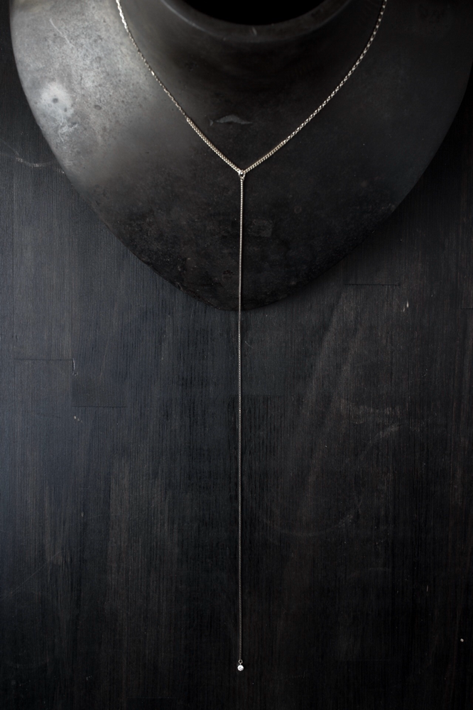 Y chain necklace - 素材 K18YG+K10YG x ダイヤモンド 0.1ct ¥111.430 (¥31.900ネックレスのみ)