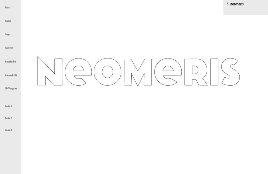 """Präsentation """"neomeris"""" - Das ausgewählte Logo"""