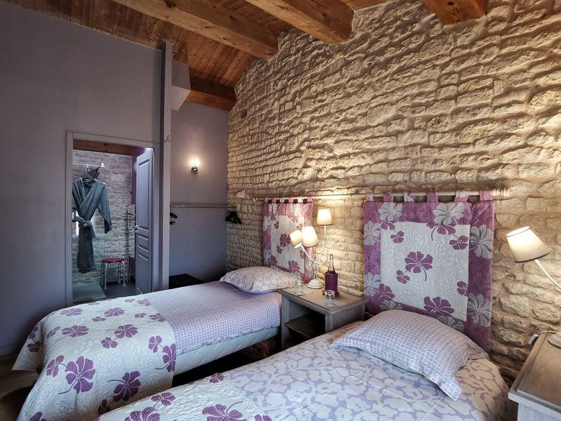 Chambre Tourterelle en mode lits jumeaux de 90x200cm