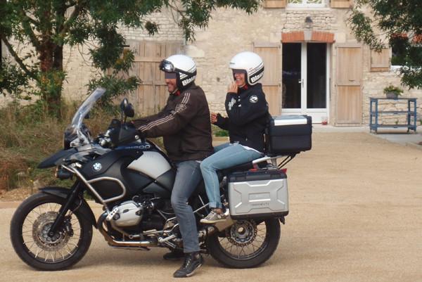 Les motards heureux