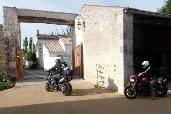 Les motards s'en vont