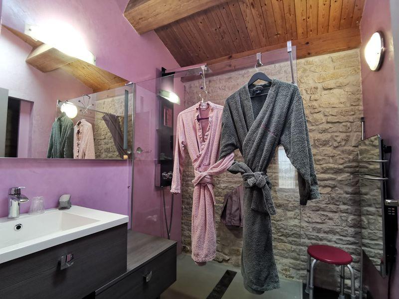 Salle d'eau de la chambre Tourterelle