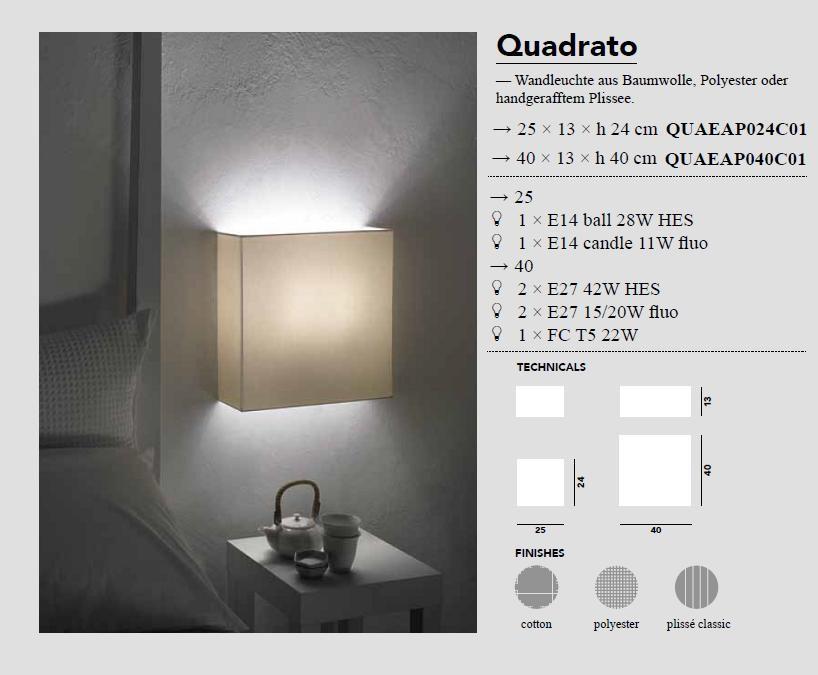 Quadrato - Wandleuchten von Modoluce - bei Raum-Traum-Design