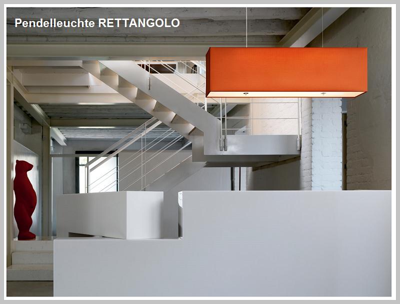 Pendelleuchte RETTANGOLO 120 cm Baumwolle - by Raum-Traum-Design.de