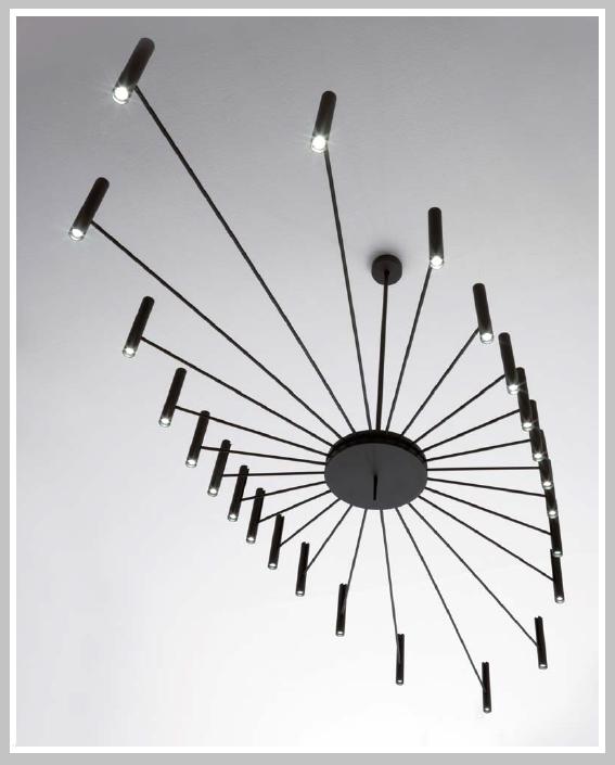 LED - Pendelleuchter Chandelier - oval 250x95 cm, 24 x 13,4 W